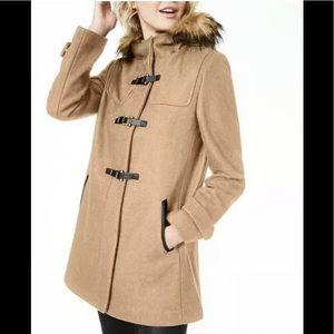 Cole Han Signature WoolBlend duffle coat camel 6